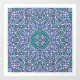 Pastel Mandala 2 Art Print