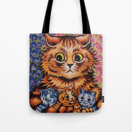Cat and Her Kittens-Louis Wain Cats Tote Bag
