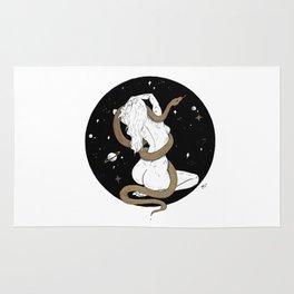 Space Goddess and the Golden Snake Rug