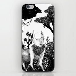 some dudes hanging out in the jungle iPhone Skin