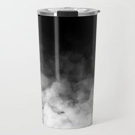 Ombre Black White Clouds Minimal Travel Mug
