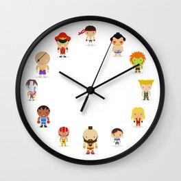 Street fighter - the world warrior Wall Clock