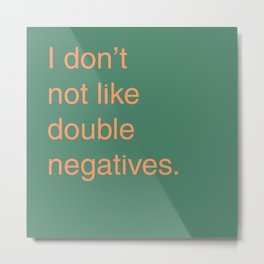 Double Negative Metal Print