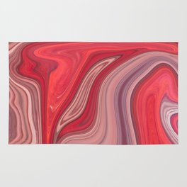 liquefied red Rug
