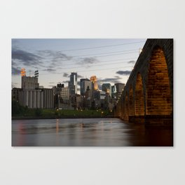 Minneapolis Skyline - Stone Arch View Canvas Print