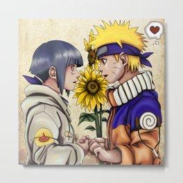 Naruto and Hinata Metal Print