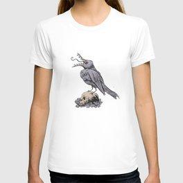 Black Bird on Skull T-shirt