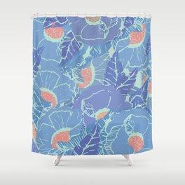 Blue Tropicana Shower Curtain