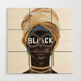 Black Woman Wood Wall Art