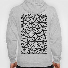 Mozaic Triangle White Hoody