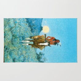 The Outlier by Frederic Sackrider Remington Rug
