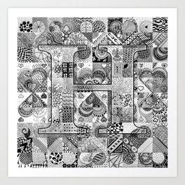 The Letter H Art Print