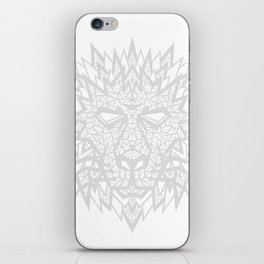 Heart of a Lion - Gray iPhone Skin