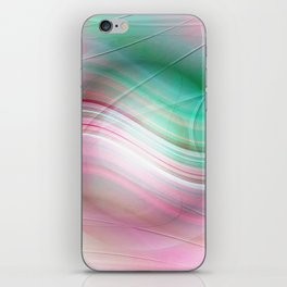 Abstract cricle green and pink iPhone Skin