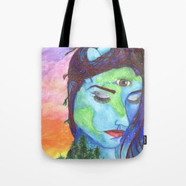 Mother Earth and a Sunset Tote Bag