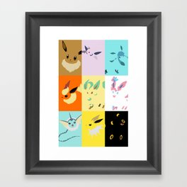 Eevee evolutions square- Eeeveelutions PKMN Framed Art Print