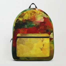 Colorful Landscape Abstract Art Print Backpack