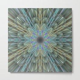 Quiet explosion of a flower mandala Metal Print