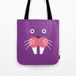 Purple Walrus Tote Bag