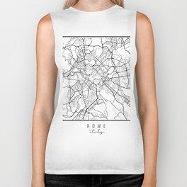 Rome Italy Street Map Biker Tank