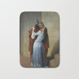The Kiss (Il Bacio) - Francesco Hayez 1859 Bath Mat