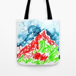 up to the hill Tote Bag