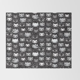 Rockabilly Cats with Pompadours Throw Blanket
