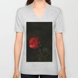 The wild red rose Unisex V-Neck