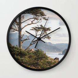 Clifftop Grazing Wall Clock