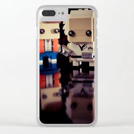 """Doc, where the heck is the delorean?!"" Clear iPhone Case"