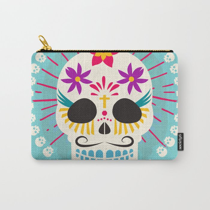 Dios De Los Muertos Day of the Dead Sugar Skull Fiesta Carry-All Pouch