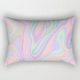 Liquid Colorful Abstract Rainbow Paint Rectangular Pillow