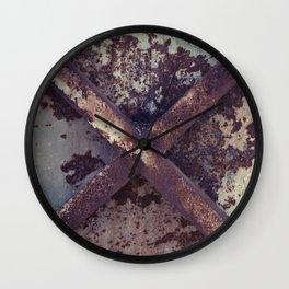 Rusty Metal Cross Wall Clock