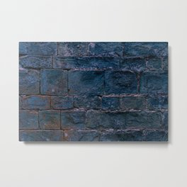 Middle evo wall made with blocks of stone. Metal Print
