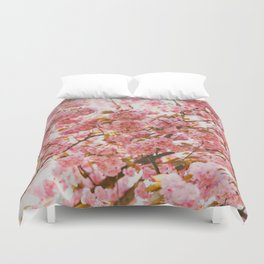 Beautiful Bundles Of Pink Cherry Blossoms In Full Bloom Japanese Sensibility Duvet Cover