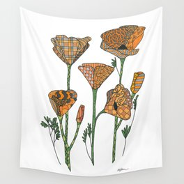 California Poppies Wall Tapestry