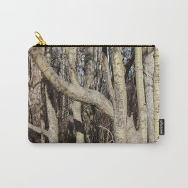 CROWDED GNARLED ASPEN TREES ON CRESCENT BEACH Carry-All Pouch
