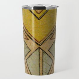 Arts & Crafts style tulip Travel Mug