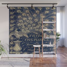 Pride and Prejudice, Peacock; Vintage Book Cover Wall Mural