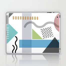 Geometric abstract art, pastel tones shapes and dots print Laptop & iPad Skin