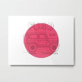 Toyota Land Cruiser FJ40 Fan Artwork Metal Print