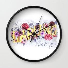 Oh, Darling, I Love You. Wall Clock