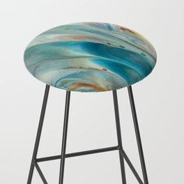 Pearl abstraction Bar Stool