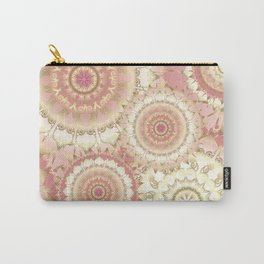 Delicate Gold Rose Mandala Pattern Carry-All Pouch