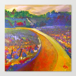 The Road to Chateau Chantal Canvas Print