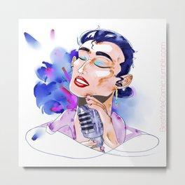 Watercolor Voice Metal Print