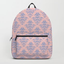 Damask Pattern | Rose Quartz and Serenity | Pantone Colors of the Year 2016 Backpack