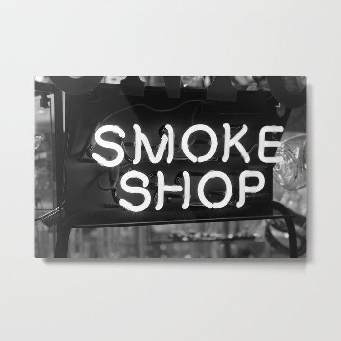 Neon Signs- Smoke Shop Metal Print