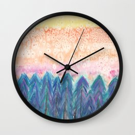Sunset Forest Wall Clock
