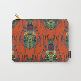flower beetle orange Carry-All Pouch